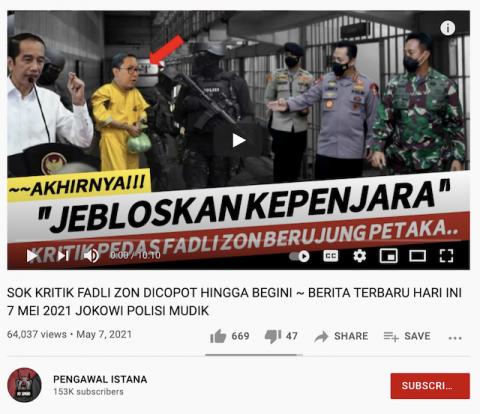 [Cek Fakta] Video Fadli Zon Dicopot dan Dipenjara karena Suka Kritik? Ini Faktanya
