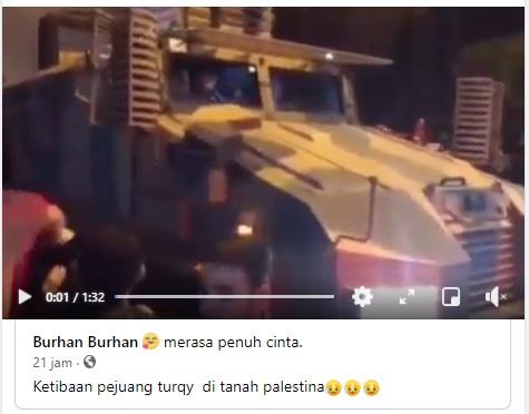 [Cek Fakta] Video Pasukan Turki Tiba di Palestina? Ini Faktanya