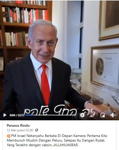 [Cek Fakta] Video Pernyataan PM Israel Ingin Membunuh Muslim dengan Vaksin? Ini Faktanya