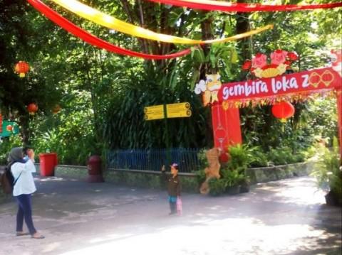 Ribuan Orang Kunjungi Kebun Binatang Gembira Loka