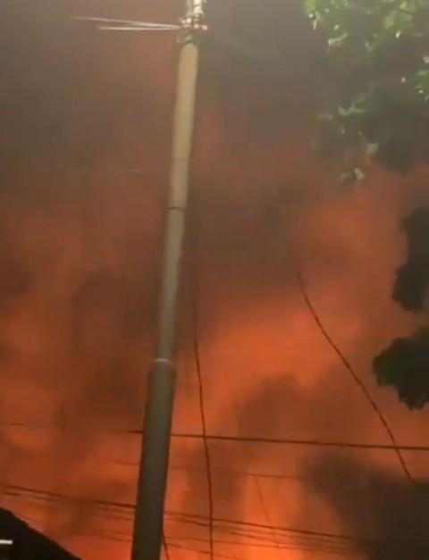 Kebakaran Melanda Rumah Tinggal di Manggarai Utara