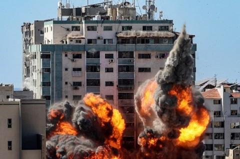 Menara Kantor Media Internasional di Gaza Hancur Diserang Israel