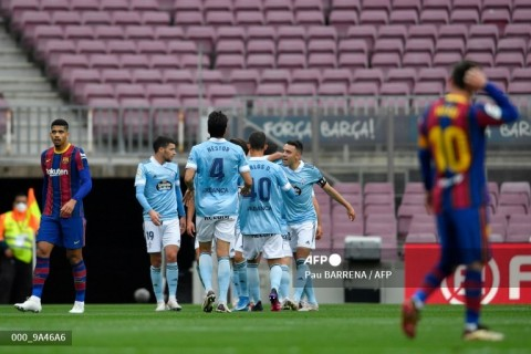 Barcelona vs Celta Vigo: Tumbang, Barcelona Kubur Mimpi Juara