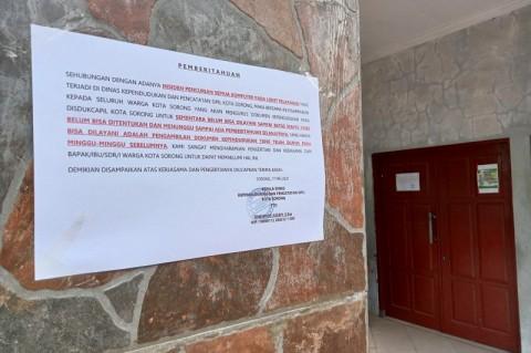 Komputer Loket Dicuri, Pelayanan KTP Kota Sorong Dihentikan