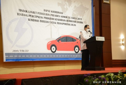 Kemenhub Susun Peta Jalan Dukung Percepatan Kendaraan Listrik Berbasis Baterai
