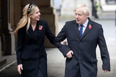 PM Inggris Boris Johnson dan Tunangannya Menikah Diam-Diam