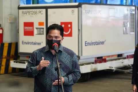 Erick Thohir: Jumlah Vaksinasi di RI Tergolong Tinggi se Asia Tenggara