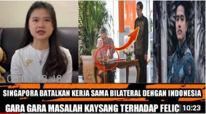 [Cek Fakta] Hubungan Asmara Felicia-Kaesang Kandas, Kerjasama Indonesia-Singapura Batal? Ini Faktanya