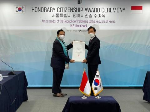 Dubes Indonesia di Korsel Dianugerahi Warga Kehormatan Kota Seoul