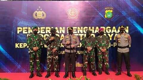 TNI-Polri Penjaga Pos Penyekatan Mudik Diganjar Penghargaan