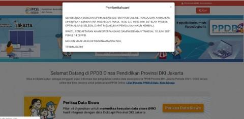 Disetop 2 Jam, Pendaftaran PPDB DKI  Jakarta Diperpanjang Hingga 10 Juni