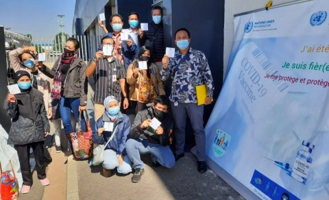Diaspora Indonesia dan Staf KBRI di Madagaskar Jalani Vaksinasi Perdana