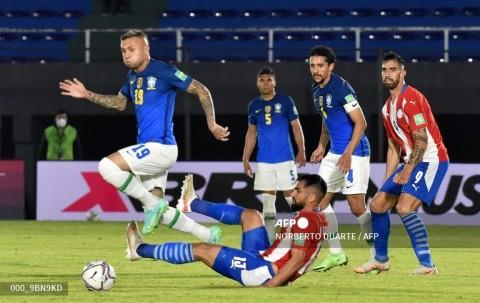 Kualifikasi Piala Dunia Zona CONMEBOL: Brasil Atasi Paraguay