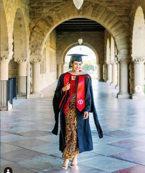 Maudy Ayunda Lulus S2 Stanford University, Dapat Dua Gelar Sekaligus