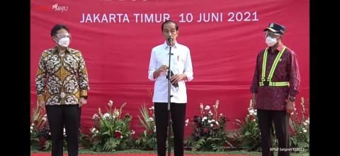 Di Depan Presiden, 1.000 Sopir dan Kernet Terminal Kampung Rambutan Divaksinasi