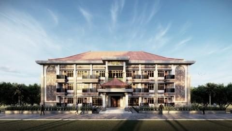 Rusun Sekolah Tinggi Agama Hindu Dibangun dengan Arsitektur Bali