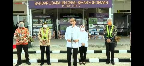 Jokowi Ingin Bandara JB Soedirman Tingkatkan Ekonomi Masyarakat Jateng