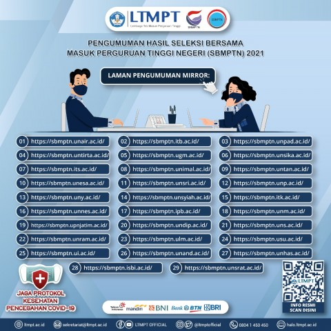 Catat, Ini Daftar <i>Link</i> Pengumuman Hasil SBMPTN 2021