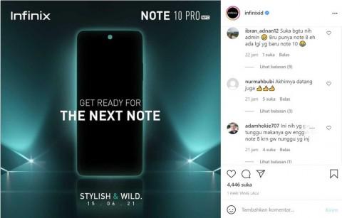 Respons Tinggi, Penjualan Infinix Note 10 Pro Ditunda