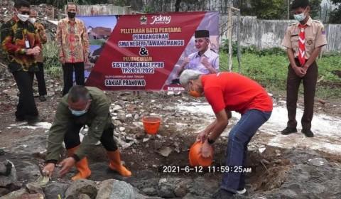 Warga Sambut Sukacita Pembangunan SMAN Tawangmangu