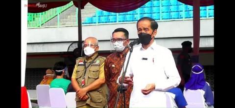 President Jokowi Inspects Covid-19 Vaccination at Bekasis Patriot Stadium