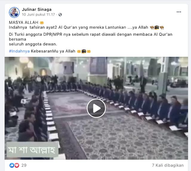 Anggota DPR/MPR Di Turki Awali Rapat Dengan Membaca Alquran