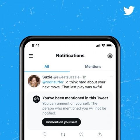 Twitter Siapkan Fitur Hapus Mention dari Orang Lain