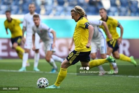Euro 2020: Penalti Forsberg Antar Swedia ke Puncak Klasemen