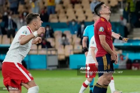 Euro 2020: Moreno Gagal Penalti, Spanyol Diimbangi Polandia