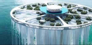 Unik, Arsitek Jepang Rancang Menara Terapung Setinggi 268 Meter