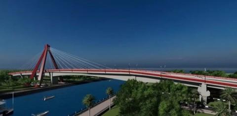 Desain Jembatan Aek Tano Pongol yang Dihiasi Dalihan Na Tolu