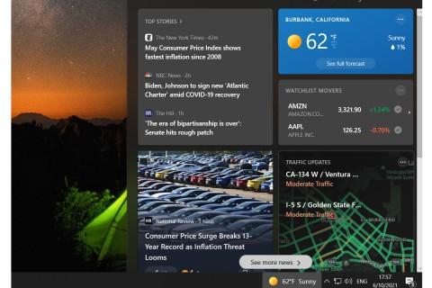 Cara Menghilangkan Notifikasi Cuaca dan Berita di Taskbar Windows 10