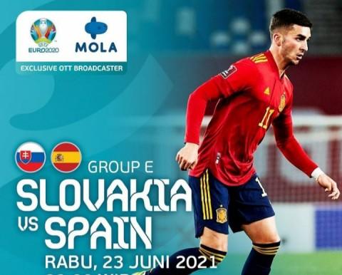 [LIVE EURO 2020] Ini Link Nonton Live Streaming Slovakia vs Spanyol dan Cara Berlangganan