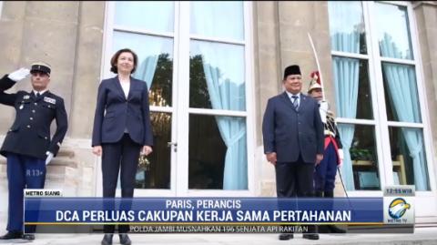 Menhan Prabowo Teken Kerja Sama Pertahanan dengan Perancis