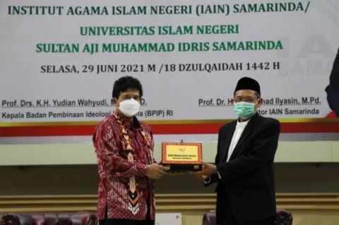 Kunjungi UINSI Samarinda, Kepala BPIP Kupas Keterkaitan Islam dengan Pancasila