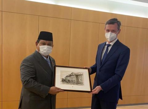 Prabowo Bahas Kerja Sama Alutsista dengan Jerman