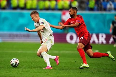 Euro 2020: Bermain 10 Orang, Swiss Paksa Spanyol ke Babak Perpanjangan Waktu