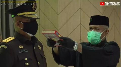 Anwar Saadi Dilantik Sebagai Jaksa Agung Muda Tindak Pidana Militer