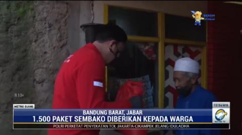 BIN Salurkan Ribuan Paket Sembako Bagi Warga