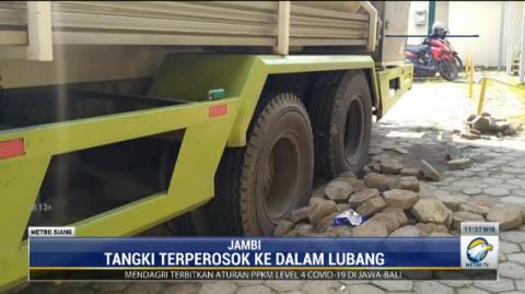 Mobil Tangki Oksigen Ambles, Distribusi di Jambi Terhambat