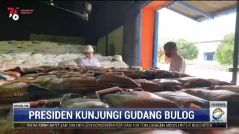 Jokowi Pantau Stok Beras di Bulog