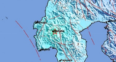 Guncangan Gempa Magnitudo 5,3 Dirasakan di Kabupaten Mamasa
