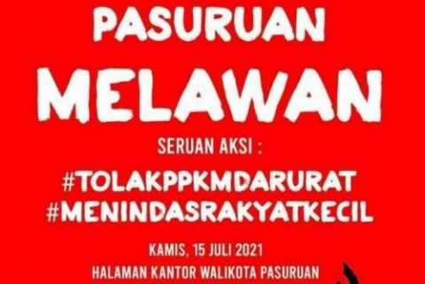 Penyebar Poster Menolak PPKM di Pasuruan Jadi Tersangka