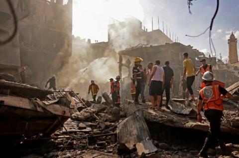 Ledakan Hancurkan Gedung Perumahan di Gaza, Satu Tewas 10 Terluka