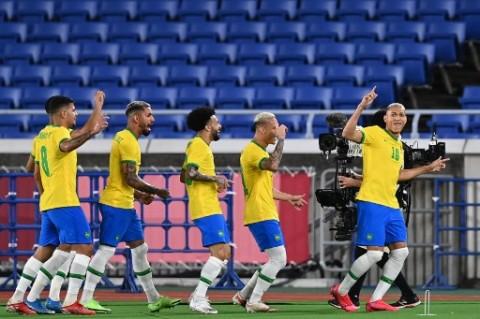 Olimpiade 2020: Hattrick Richarlison Bantu Brasil Taklukkan Jerman