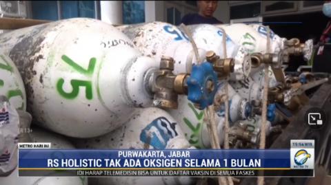 Oksigen di RS Holistic Purwakarta 1 Bulan Kosong, 19 Nyawa Tak Tertolong