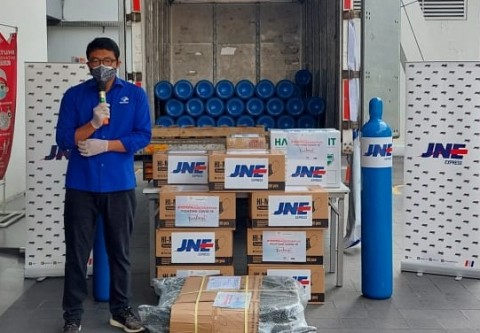 Yayasan Media Group Salurkan Oksigen Tabung Ke RSUD Kota Bandung