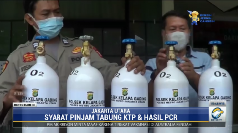 Polsek Kelapa Gading Pinjamkan Tabung Oksigen Gratis untuk Pasien Isoman
