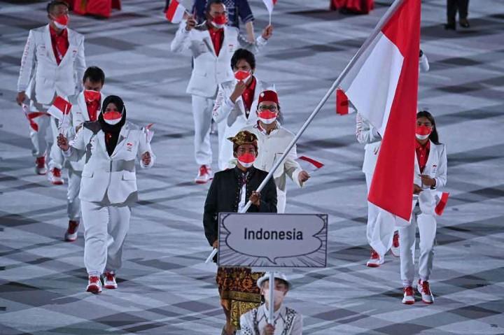 Kontingen Indonesia Tampil Menawan di Pembukaan Olimpiade Tokyo