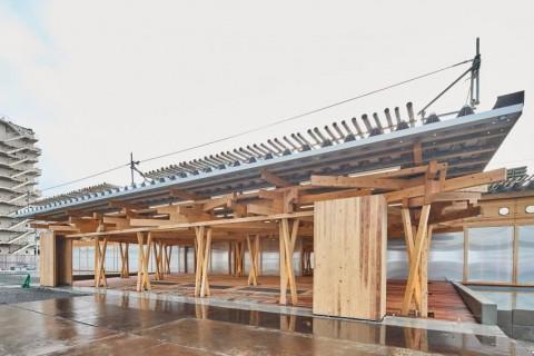 Village Plaza, Ruang Atlet Olimpiade Tokyo Dibangun Pakai Kayu Pinjaman